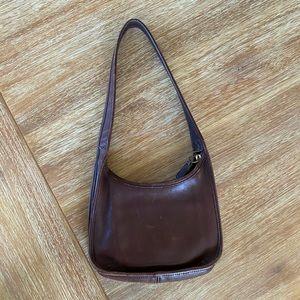 Vintage Coach Brown Leather Ergo Shoulder Bag